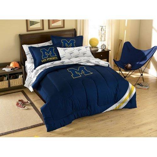 Ncaa Michigan Wolverines Bedding Set, Full front-941845
