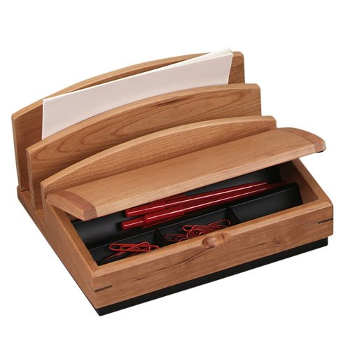 Desk supplies holders dispensers desk accessories - Cherry desk organizer ...