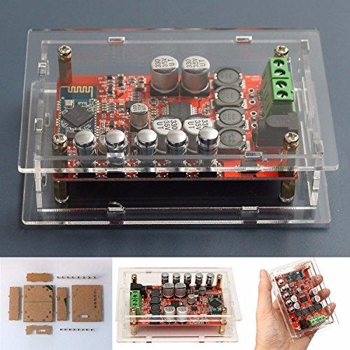 ELEGIANT TDA7492P Amplificatore Wireless Mini Bluetooth 2x50W CSR4.0 Hifi Stereo Audio Ricevitore Scheda di Amplificazione a Doppio Canale Modulo Bordo Digital Amplifier Amp con Protezione ACRL Box con il Caso