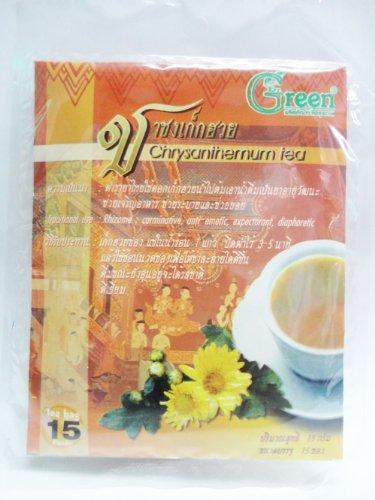 Dr. Green Brand Chrysan Themurn Tea 15G (15 Tea Bags) X 2 Pack Thai