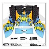 Graphics Kit: Flames Carbon Blue : LRP Pulsar 2&3