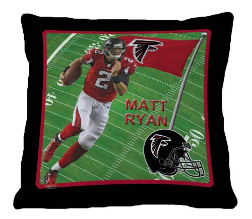 NFL Biggshots Bedding - Atlanta Falcons Matt Ryan Toss Pillow, 18-Inch at Amazon.com