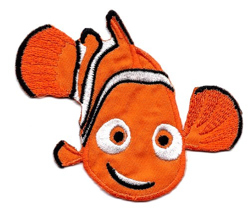 1 X Nemo fish in Finding Nemo Movie Disney Embroidered Iron On for T-Shirt Patch Applique ~ ocean animal