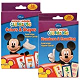 Disney Mickey Mouse Clubhouse Flash Cards Set - Featuring number recognition, counting skills, basic shapes, & colors! Designed For Your Pre-K/Kinder Child In Mind!