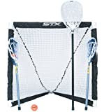 STX FiddleSTX Three Player Game Set with Two Field Player Sticks One Goalie Stick Mini Goal and Balls