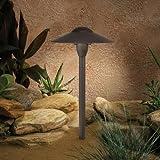 Kichler Lighting 15410AZT Dome Path Light 1-Light 12-Volt Path & Spread Light, Textured Architectural Bronze