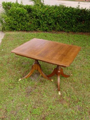 Ash Federal Style Dining Table with Two Leafs