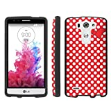 Mobiflare [LG G3 Vigor D725 for AT&T G3 MINI] Red/White Polk-a-Dots with Bow Slim Guard Protect Design Case