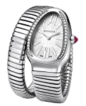 Bvlgari Serpenti Silver Dial Stainless Steel Diamond Ladies Watch SP35C6SDS-1T-L by Bvlgari