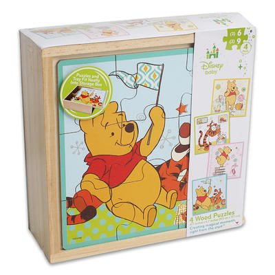 1 piece of 4in1 WOODEN POOH DISNEY BABY PUZZLE