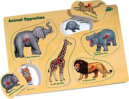 Picture of Safari Animal Opposites Peg Puzzle by Safari (B000ICN3VI) (Pegged Puzzles)