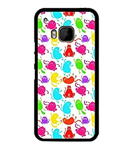 Fuson Premium 2D Back Case Cover Cute cats With Black Background Degined For HTC One M9::HTC M9::HTC One Hima