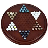 Set Of 12 - Game Chinese Checkers With Marbles Handcrafted Wooden Toys From India - Return Gifts