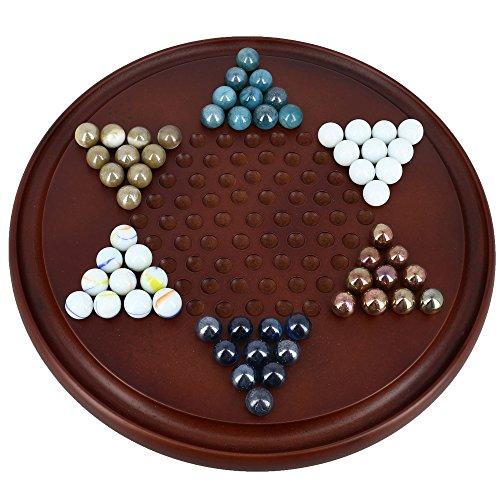 ENSEMBLE DE 18 - Jeu de Dames Chinois Avec Marbles handcrafted Jouets en bois De l'Inde