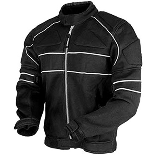 Juicy-Trendz-Uomo-Blindata-Impermeabile-Tessile-Motocicletta-Cordura-Giacca