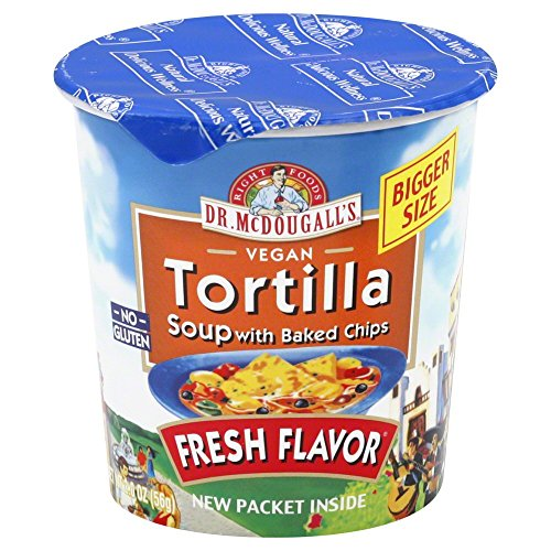 Dr. McDougall's Tortilla Soup with Baked Chips Big Cup 2.0 OZ (Pack of 12)