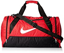 New Nike Brasilia 6 Medium Duffel Bag Gym Red/Black/White