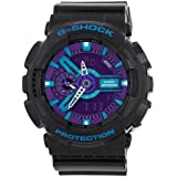 Casio Men's GA110HC-1A G-Shock Black and Red Multi-Function Digital Watch