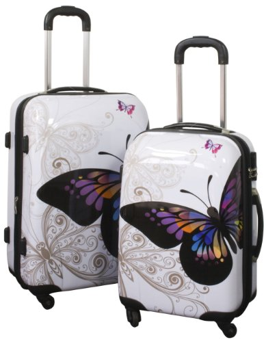 Hartschalen Kofferset 2tlg ABS 'Butterfly' Schmetterling
