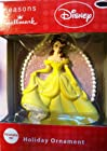 Hallmark Disney Belle Princess Yellow Dress Christmas Ornament