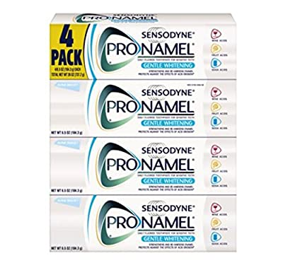 Sensodyne Pronamel Gentle Whitening Toothpaste 4 Pack / 6.5oz Large Size For Sensitive Teeth