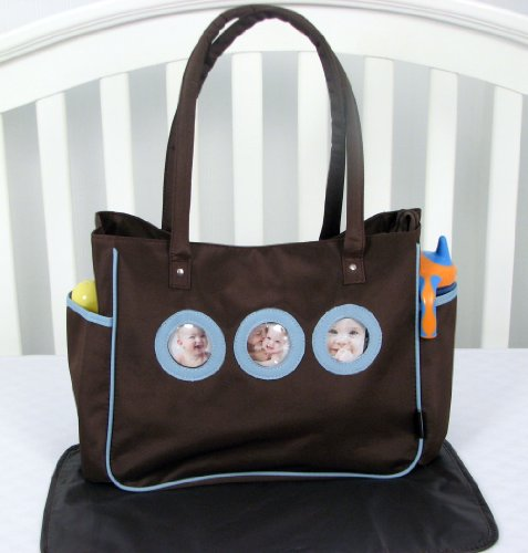 Soho Your Cute Pictures Diaper Bag With Changing Pad 2 Pieces Set (Blue And Brown) front-926134
