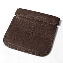 MOLLA - Italian Leather Squeeze Coin Purse (Espresso)