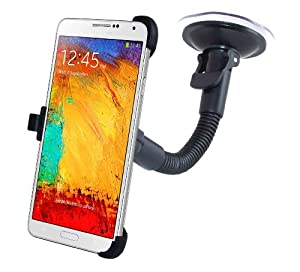Accessory Village In Car Windscreen Suction Holder Mount for Samsung N9000 Galaxy Note 3 With Full 360 Degrees Rotation