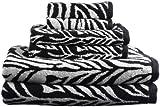 Divatex Home Fashions 6-Piece Jacquard Towel Set, Zebra