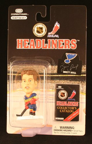 BRETT HULL / ST. LOUIS BLUES * 3 INCH * 1997 NHL Headliners Hockey Collector Figure - 1