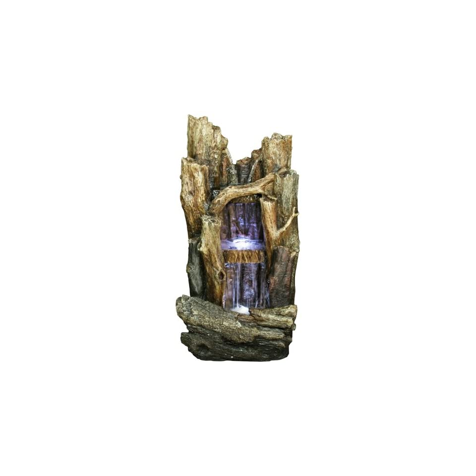 Yosemite Home Decor CW09040 2 Tier Tree Branches Waterfall Fountain with LED Accent Lighting