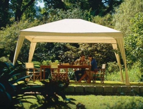 Coolaroo Isabella Steel Post Gazebo, Camel, 10-Foot by 12-Foot