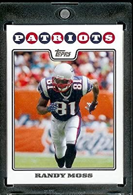 2008 Topps # 126 Randy Moss - New England Patriots - NFL Trading Cards