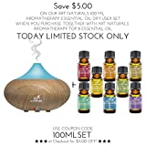 Art Naturals Top 8 Essential Oils - 100% Pure Of The Highest Quality Essential Oils - Peppermint, Tee Tree, Rosemary, Orange, Lemongrass, Lavender, Eucalyptus, & Frankincense - Therapeutic Grade