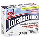 Rite Aid Pharmacy Loratadine, Original Prescription Strength, 10 mg, Tablets, 30 tablets