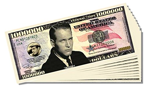 Paul Newman Million Dollar Bill - 25 Count with Bonus Clear Protector & Christopher Columbus Bill