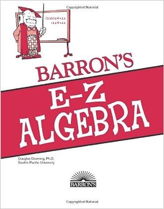 E-Z Algebra (Barron's E-Z Series)