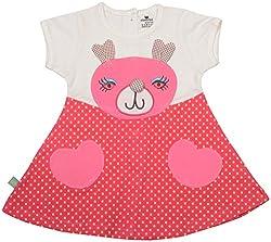 Absorba Baby Girls' Dress ( Pink_3-4 Years ,60005)