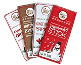 Theo Holiday Organic Chocolate Bars Gingerbread, Peppermint, Cranberry Orange, Brittle (3-oz Bars)