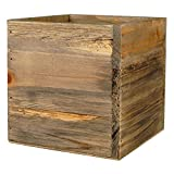 CYS Wood Cube Box Wood Planters with Removable Zinc Liner (Pack of 1)