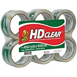 Duck Brand HD Packaging Tape Packaging Tape, 1.88 inch x 54.7 Yard, Crystal Clear, 6 Rolls (CS-55-6pk)