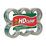 Duck Brand HD Clear High Performance Packaging Tape, 1.88-Inch x 54.6 Yard, Crystal Clear, 6-Pack (441962)