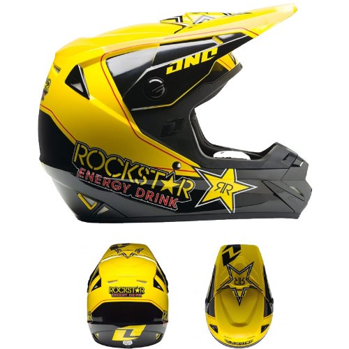 2014 One Industries Mens Atom Full Face Helmet Rockstar Yellow Medium