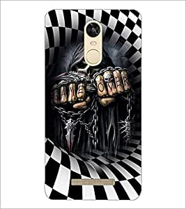 PrintDhaba Skeleton D-3674 Back Case Cover for XIAOMI REDMI NOTE 3 (Multi-Coloured)