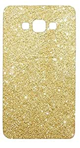 Novo Style Luxury Fashion Bling Sparkling Glitter Soft Back Cover Case For Samsung Galaxy j7 2016- Light Golden