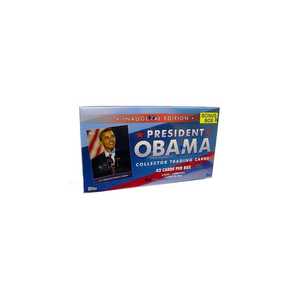 Barack Obama Value Box Presidential Topps Trading Cards (6 Packs)