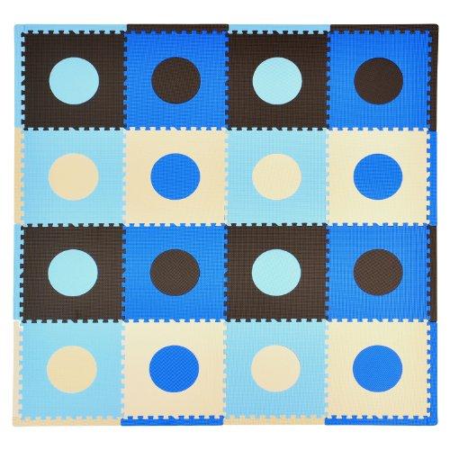 Tadpoles 16 Sq Ft Playmat Set, Blue/Brown front-683887