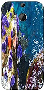 Snoogg Abstract Underwater Designer Protective Back Case Cover For HTC M8