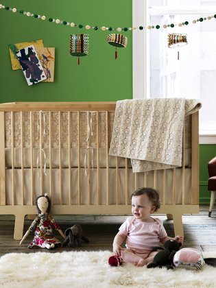 DwellStudio Organic Crib Set, Poppy