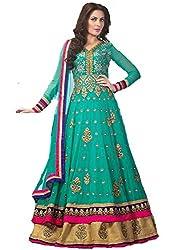 Diya Women's Georgette Green Dress Materials [Diya1056_V_Green]